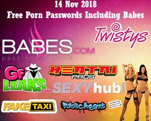 14 Nov 2018 Free Porn Passwords Including Babes
