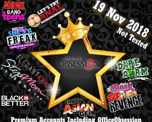 19 Nov 2018 Not Tested Premium Accounts Including OfficeObsession