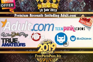 10 Jan 2019 Free Porn Premium Accounts Including Adult.com