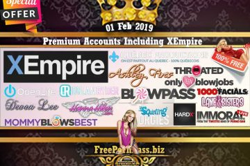 01 Feb 2019 Free Porn Premium Accounts Including XEmpire