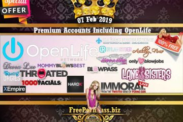 07 Feb 2019 Free Porn Premium Accounts Including OpenLife