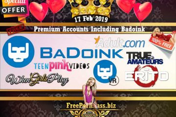 17 Feb 2019 Free Porn Premium Accounts Including Badoink